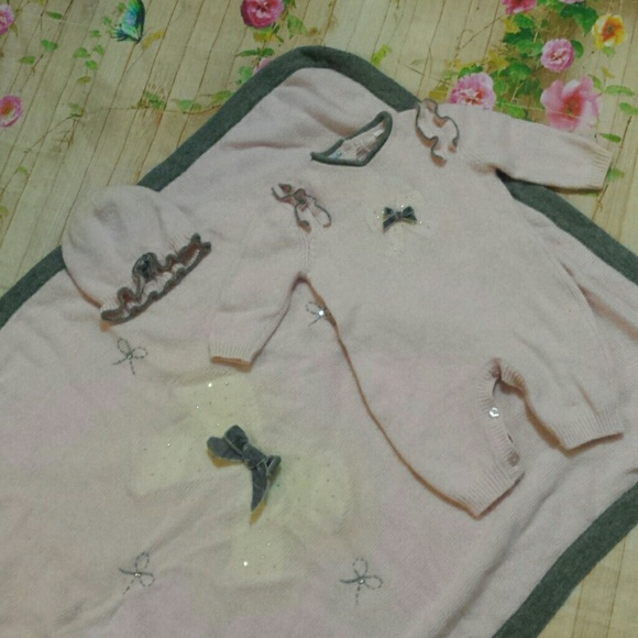 Gentle Baby Graziella Button Dress Dresses Girls' Clothing (newborn-5t)